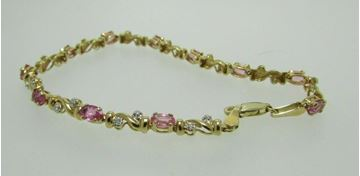Picture of 14K Pink Topaz & Diamond Bracelet