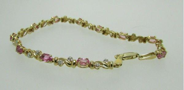 Picture of 14K Pink Topaz & Diamond Bracelet