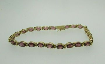 "Picture of 8 1/4"" 14K Garnet Bracelet"