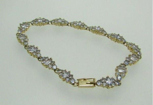"Picture of 8 1/4"" 14K Tanzanite Bracelet"