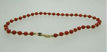 "Picture of 10"" 18K Coral Bracelet made in Italy"