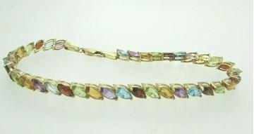 """Picture of 8"""" 14K Multi-Stone Bracelet"""
