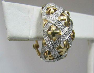 Picture of 14K Diamond Pierced Earrings