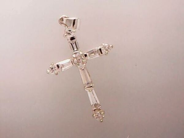 Picture of Sterling Silver CZ Cross Pendant