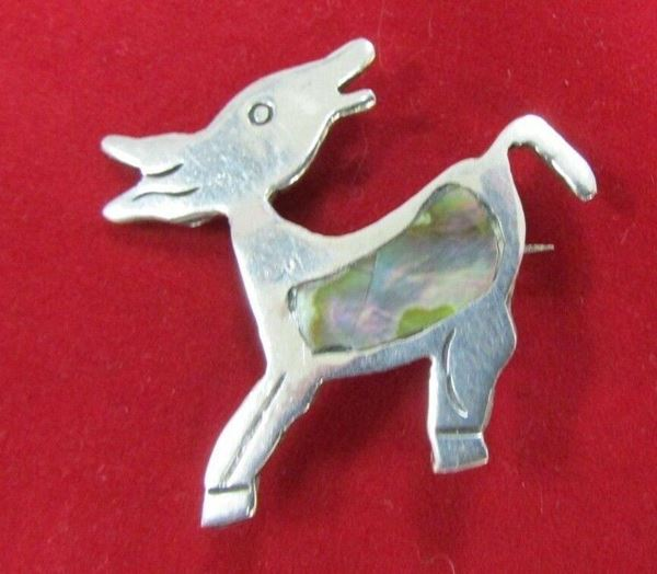 "Picture of ""The Alpaca"" Abalone Sterling Silver Brooch"