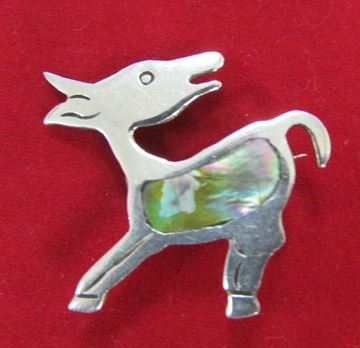 "Picture of 2 ""The Alpaca"" Abalone Sterling Silver Brooch"
