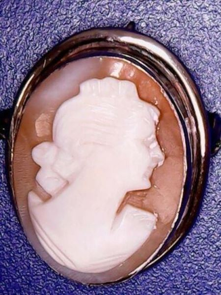 Picture of Sterling Silver Cameo Brooch/Pendant