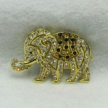Picture of Rhinestone Elephant Brooch
