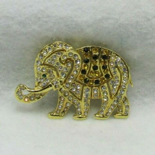 Picture of Rhinestone Elephant Brooch