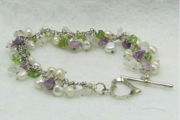 Picture of Sterling Silver Multi-Stone Bracelet