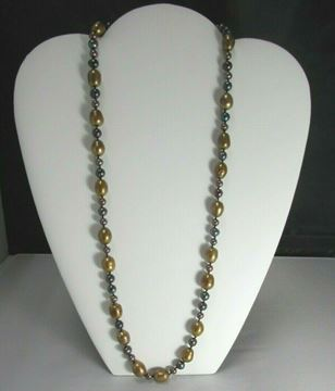 """Picture of 24 1/2"""" Dyed Fresh Water Peal Necklace"""