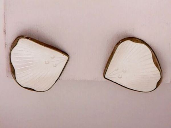 Picture of Norway Sterling Silver Enamel Clip-on Earrings