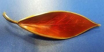 Picture of David AndersonSterling Silver Enamel Leaf Brooch