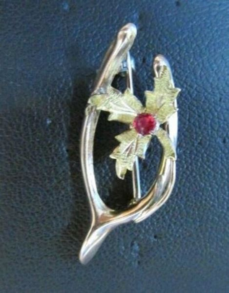 Picture of 10K Ruby Wishbone Brooch