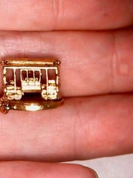 Picture of Sterling Silver Movable San Francisco Cable Car Charm