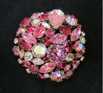 Picture of Austria Pink Rhinestone Brooch