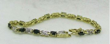 Picture of Sterling Silver Synthetic Stone Bracelet