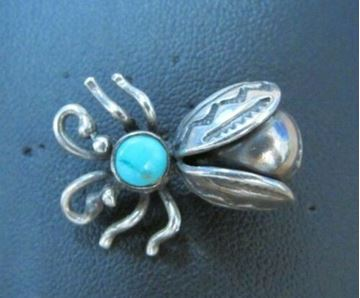 Picture of Sterling Silver Turquoise Bug Brooch2