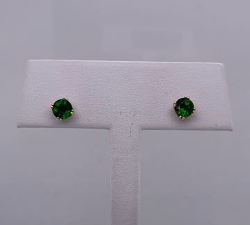Picture of  14K Tsvorite Garnet Stud Earrings