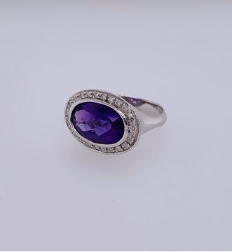 Picture of 14K Amethyst & Diamond Ring