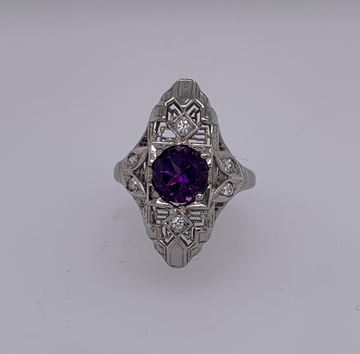 Picture of 18K Amethyst & Diamond Ring