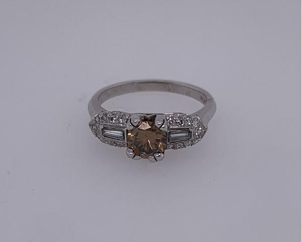 Picture of Platinum Champagne Diamond Ring