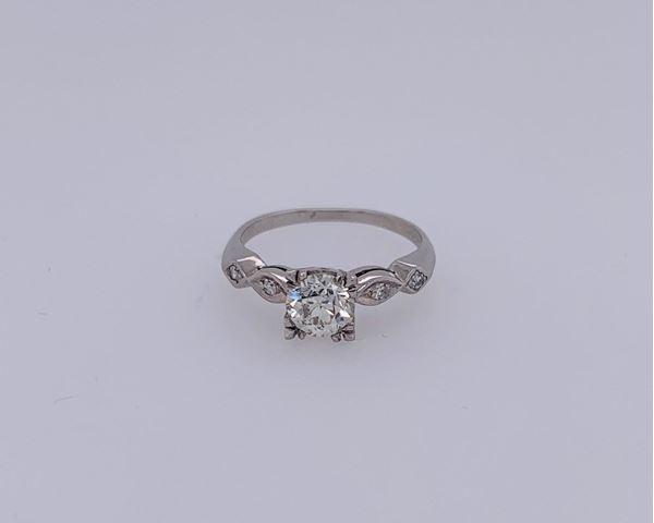 Picture of Platinum Euro Cut Diamond Ring