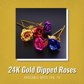 Picture of 24K Gold Dipped Roses
